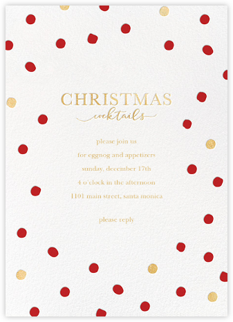 Christmas Spots - Sugar Paper - Christmas invitations