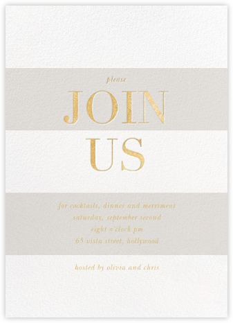 Bold Welcome - Gray - Sugar Paper - Wedding weekend