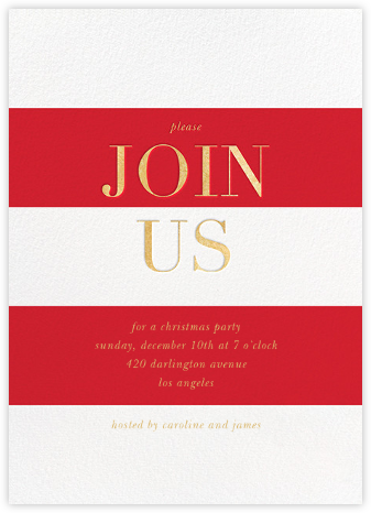 Bold Welcome - Red - Sugar Paper - Sugar Paper holiday