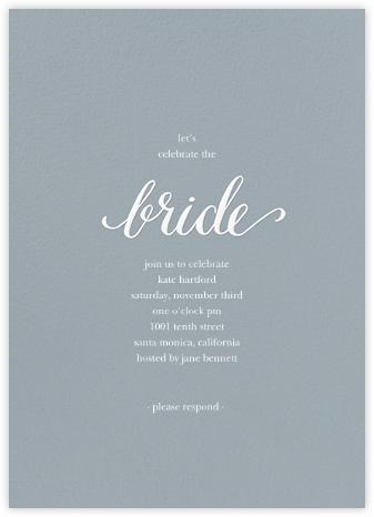 Classic Bride - Pacific/White - Sugar Paper - Bridal shower invitations