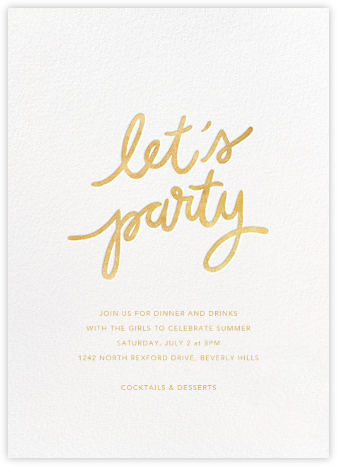 Party Script (Tall) - White - Sugar Paper -
