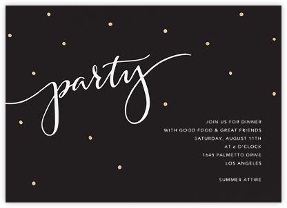 Signature Party - Black - Sugar Paper -