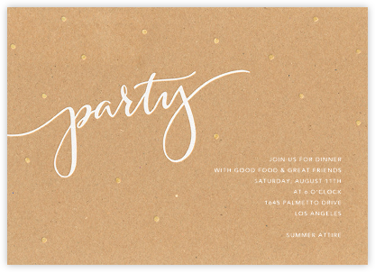 Signature Party - Kraft - Sugar Paper -