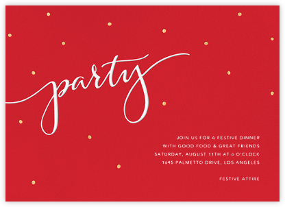 Signature Party - Red - Sugar Paper - Sugar Paper