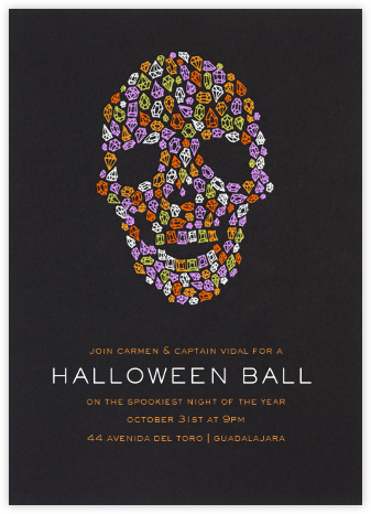 Diamond Skull - Paperless Post - Halloween invitations