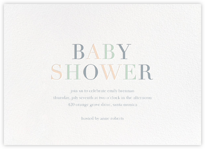 Tricolor Shower - Sugar Paper - Baby Shower Invitations