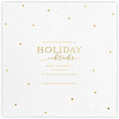 Cocktail Dots - Gold - Sugar Paper - Holiday invitations