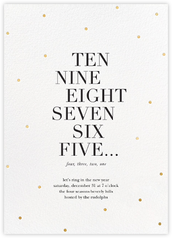 New Year Countdown - Sugar Paper - New Year's Eve Invitations