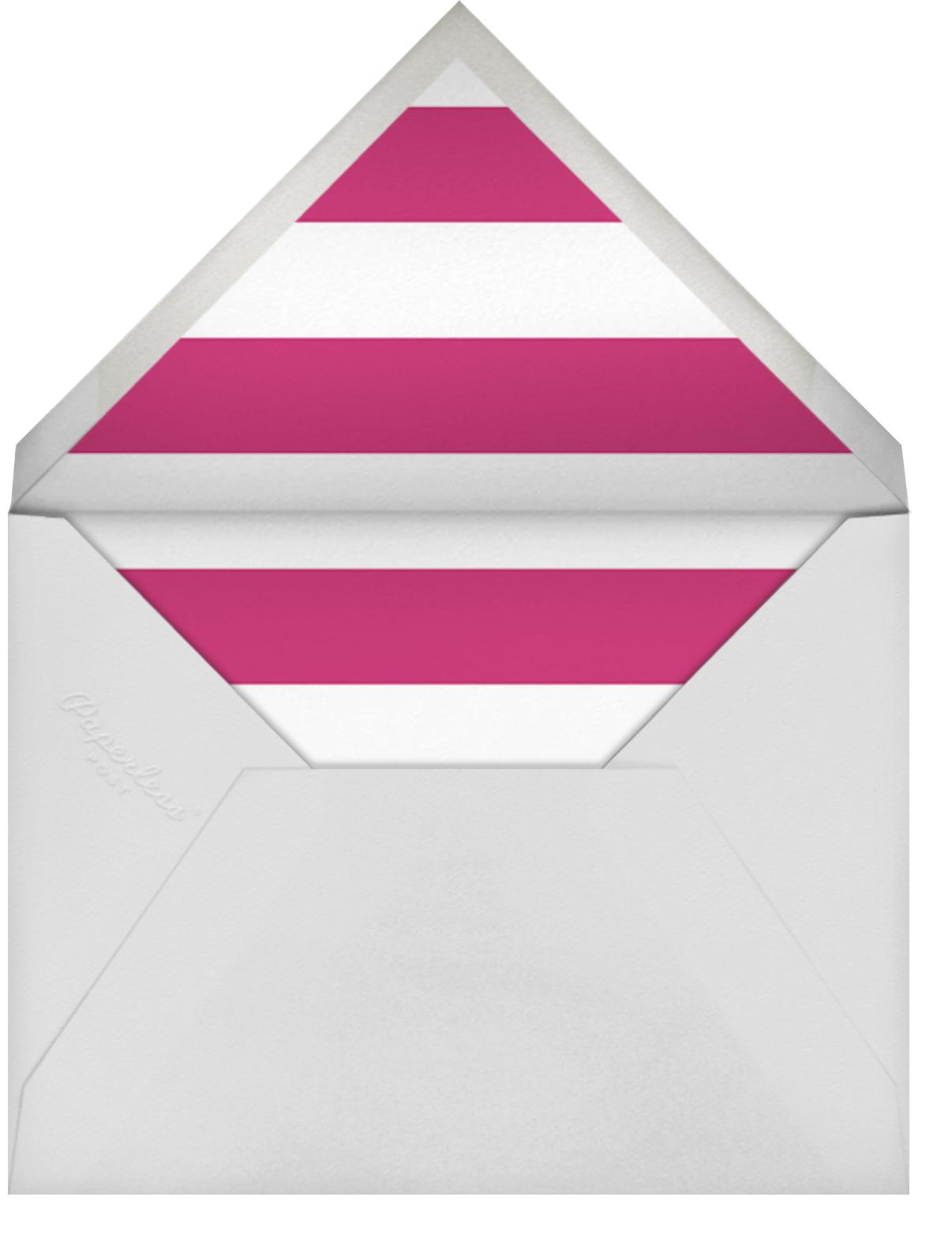 Spotted Frame - White - Sugar Paper - Kids' birthday - envelope back