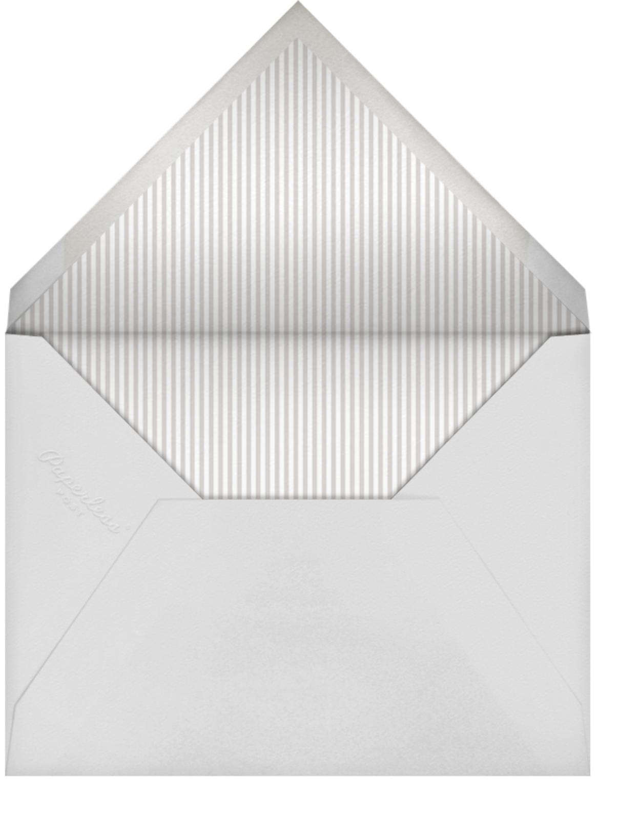Swiss Dot Shower - Gray - Sugar Paper - Bridal shower - envelope back