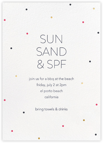 Summer Dots - Sugar Paper - Summer Entertaining Invitations