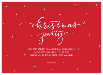 Christmas Dots - Red - Sugar Paper - Christmas invitations