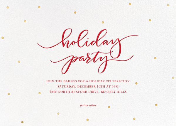 Holiday Dots - White - Sugar Paper - Company holiday party