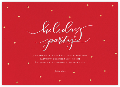 Holiday Dots - Red - Sugar Paper - Professional party invitations and cards