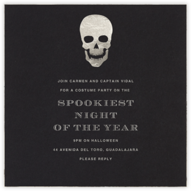 Silver Skull - Paperless Post - Halloween invitations