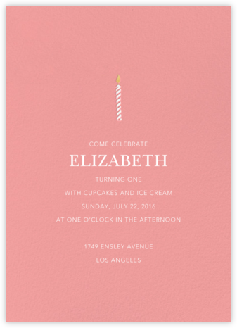 And One for Good Luck (One) - Blossom - Sugar Paper - First Birthday Invitations