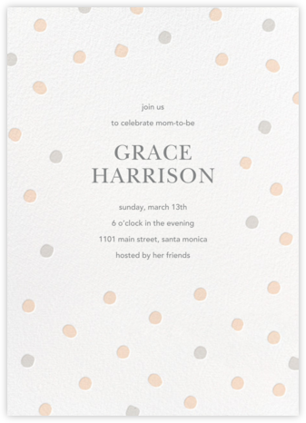 Painted Spots - Pink/Gray - Sugar Paper - Baby Shower Invitations