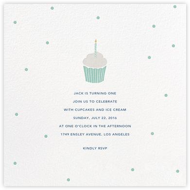 Fresh-Baked - Blue - Sugar Paper - Online Kids' Birthday Invitations