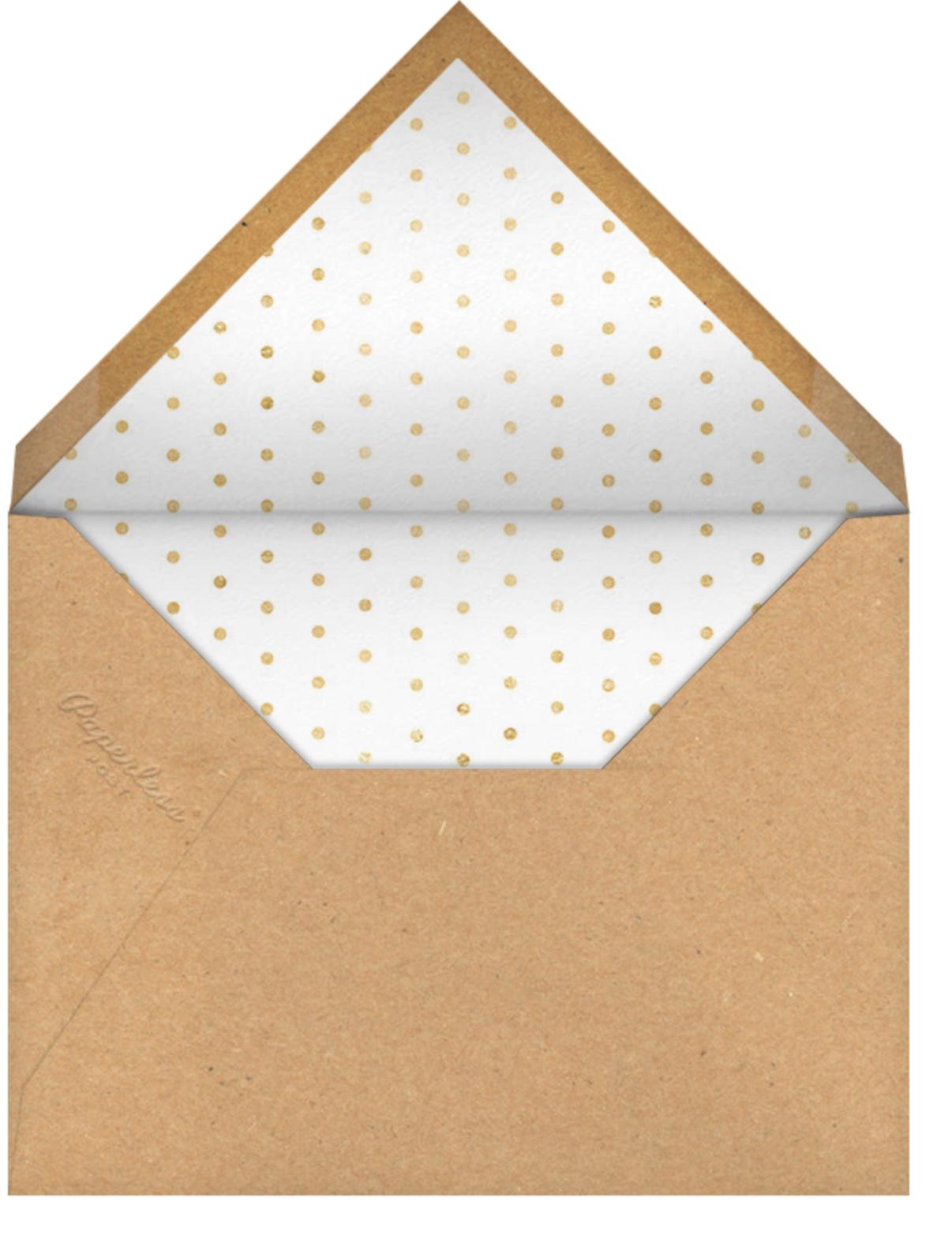 Dinner and Drinks - White - Sugar Paper - Dinner party - envelope back
