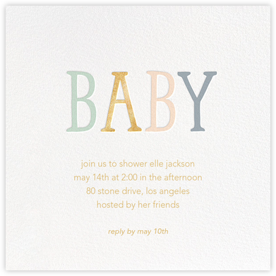 Bright Baby - Sugar Paper - Celebration invitations