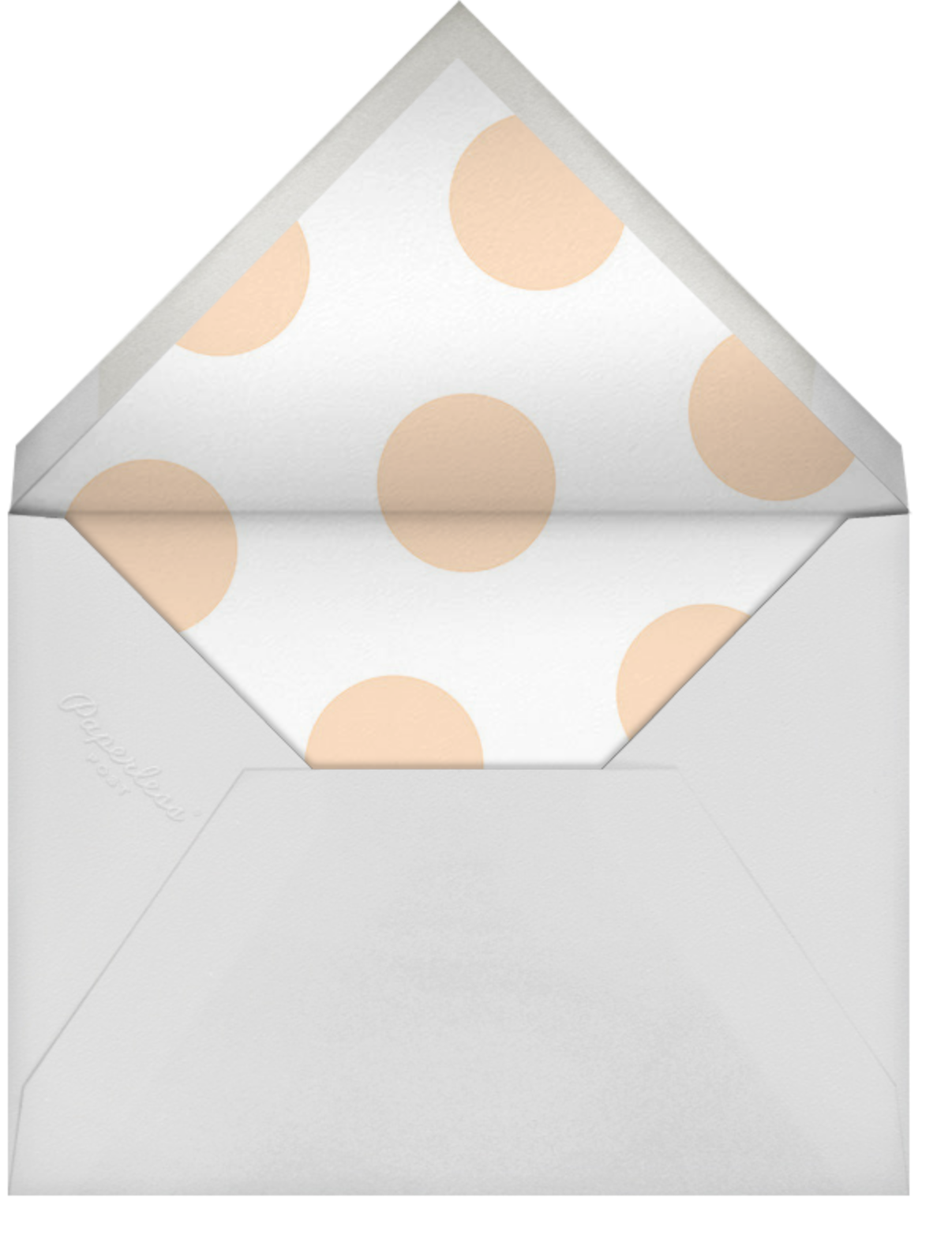 Bright Baby - Sugar Paper - Baby shower - envelope back