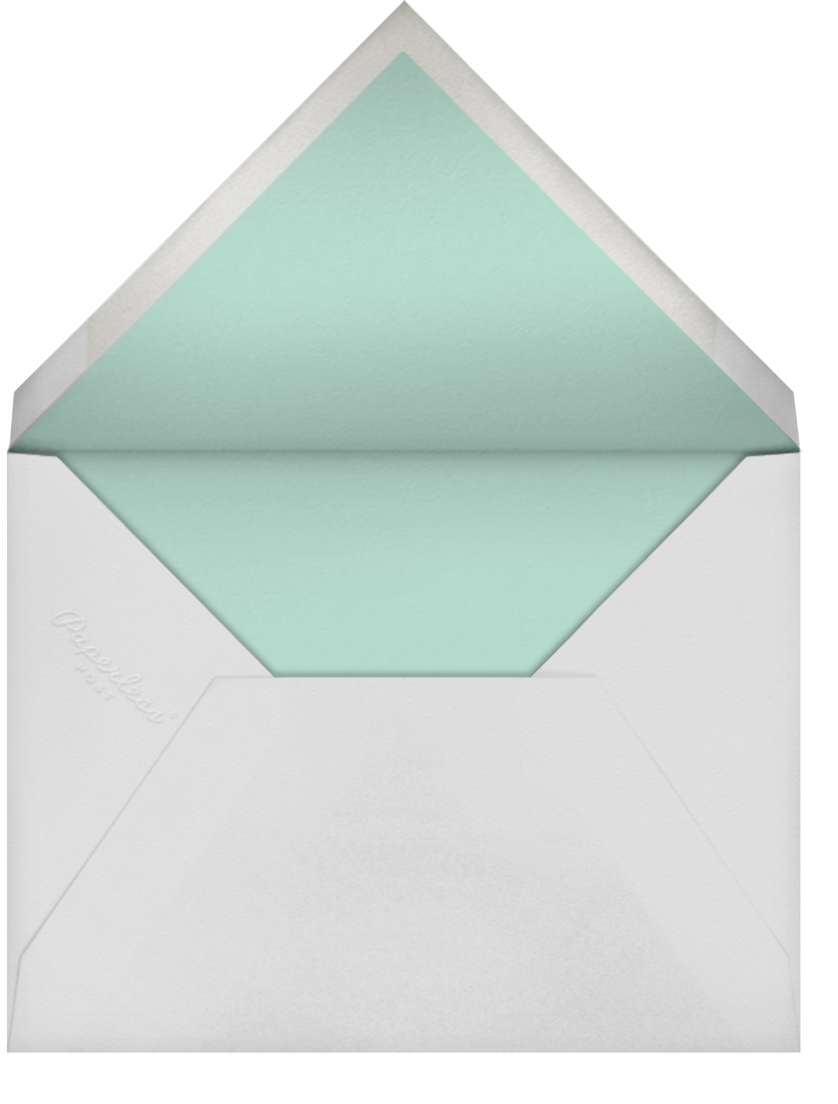 Painted Spots - Dark Blue/Blue - Sugar Paper - Sugar Paper - envelope back
