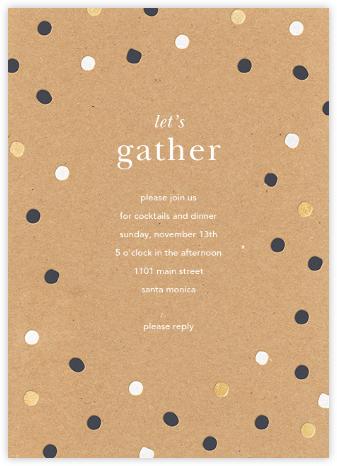 Painted Spots - Kraft - Sugar Paper - General Entertaining Invitations