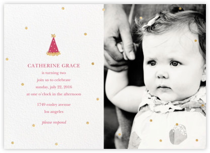 Put on Your Party Hat (Photo) - Rhubarb - Sugar Paper - First Birthday Invitations