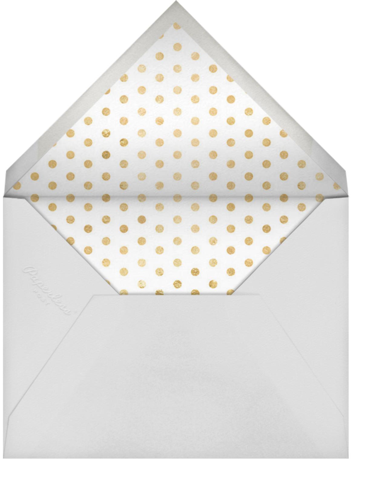 Cabana Birthday (Photo) - Black - Sugar Paper - Adult birthday - envelope back