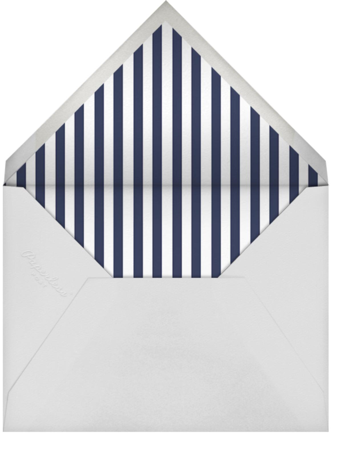 Roosevelt (Horizontal) - Silver - Sugar Paper - Adult birthday - envelope back