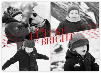 Bright Future - Red - Paperless Post - Holiday Cards