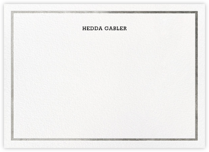 Gracile (Stationery) - Silver - Paperless Post - Personalized Stationery