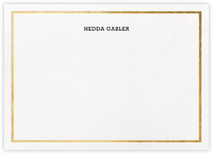 Gracile (Stationery) - Gold | horizontal