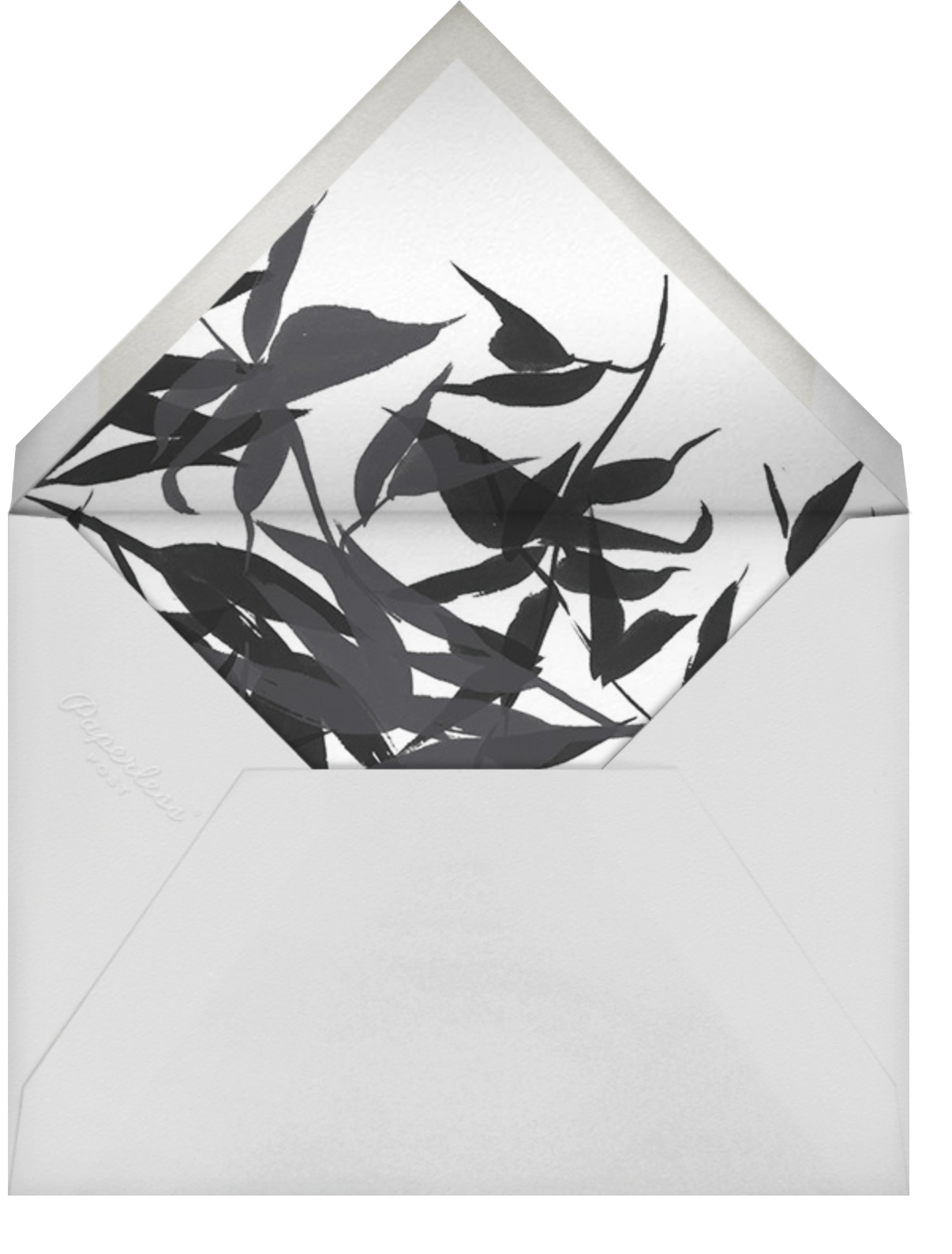 Idylle (Photo Save the Date) - White/Silver - Paperless Post - Classic  - envelope back