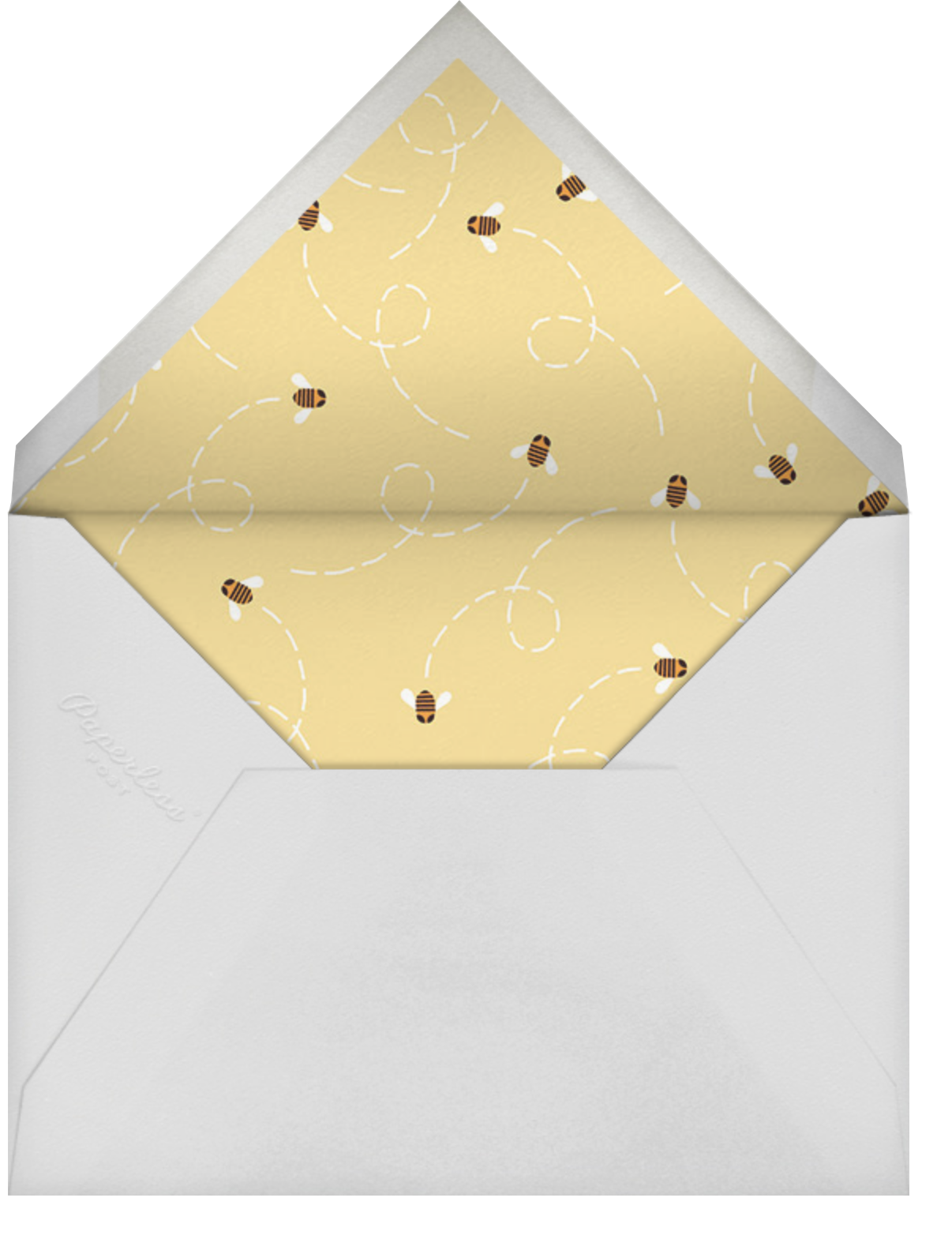 Gracile (Announcement) - White/Silver - Paperless Post - Envelope