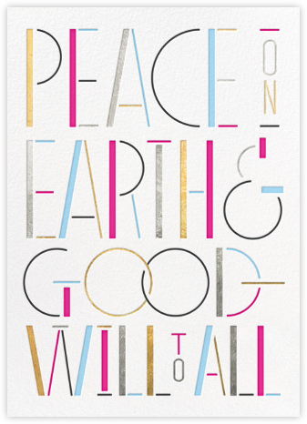 Peace Moderne - Multi - Paperless Post - New Year cards