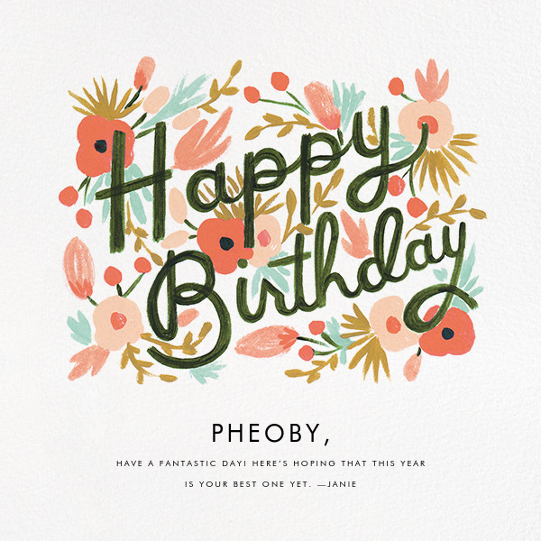 Floral Burst - Rifle Paper Co. - Birthday cards