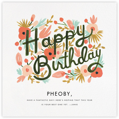 Floral Burst - Rifle Paper Co. - Birthday Cards for Her