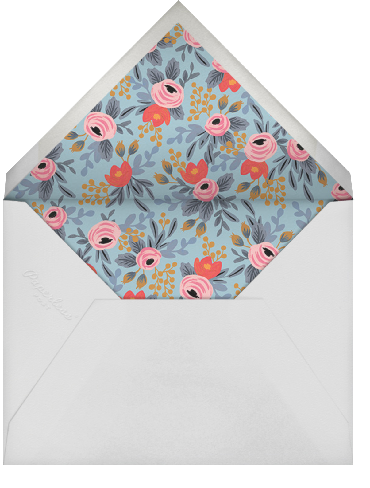 Year in Bloom (Landscape Photo) - White - Rifle Paper Co. - Graduation party - envelope back