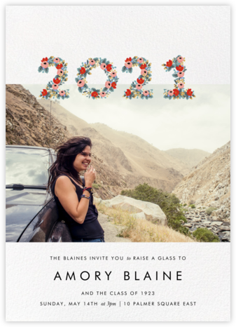 Year in Bloom (Landscape Photo) - White - Rifle Paper Co. -