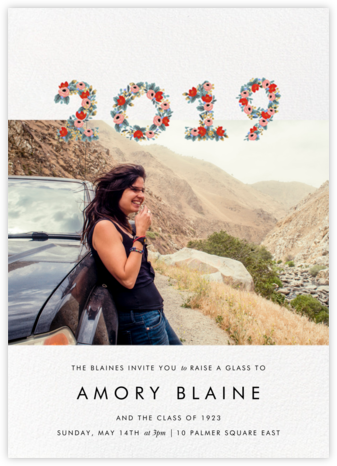 Year in Bloom (Landscape Photo) - White - Rifle Paper Co. - Rifle Paper Co. Invitations