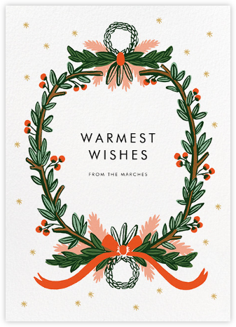 Midnight Wreath - White - Rifle Paper Co. - Christmas Cards