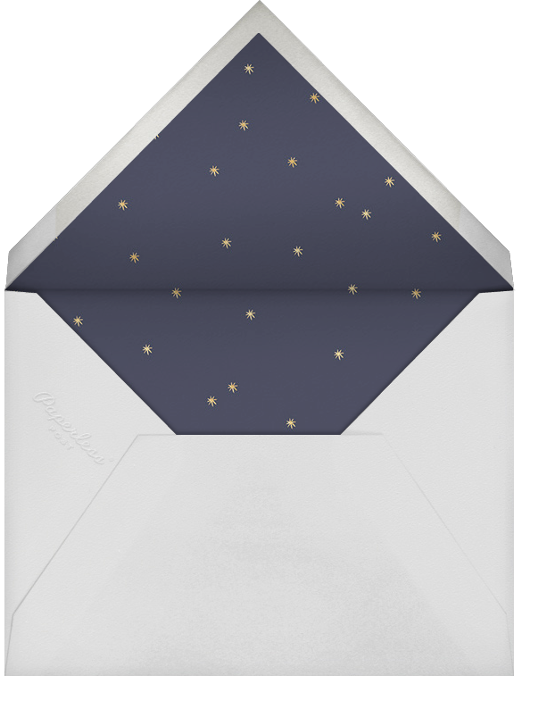Midnight Wreath (Portrait Photo) - Navy - Rifle Paper Co. - Holiday cards - envelope back