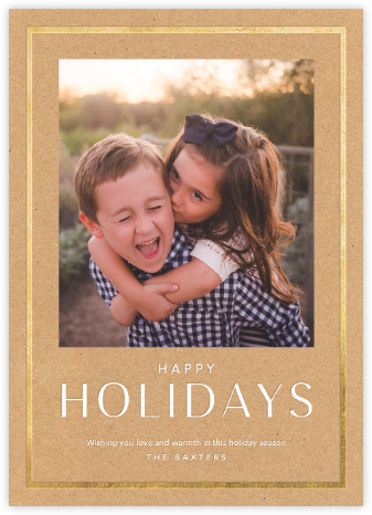 Holiday Finestra (Tall) - Kraft/Gold - Paperless Post -