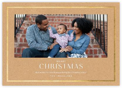 Christmas Finestra (Horizontal) - Kraft/Gold - Paperless Post -