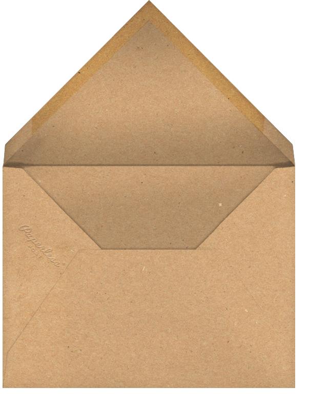 New Year Finestra (Horizontal) - Kraft/Silver - Paperless Post - New Year - envelope back