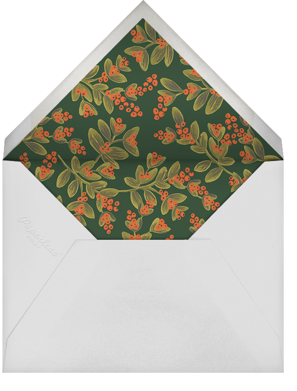 Wintergreen Holiday (Portrait Photo) - Rifle Paper Co. - Holiday cards - envelope back