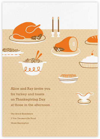Turkeyscape - Paperless Post - Thanksgiving invitations