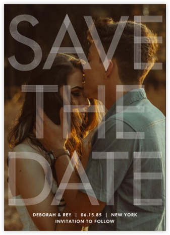 Sellotape (Tall) - Paperless Post - Modern save the dates