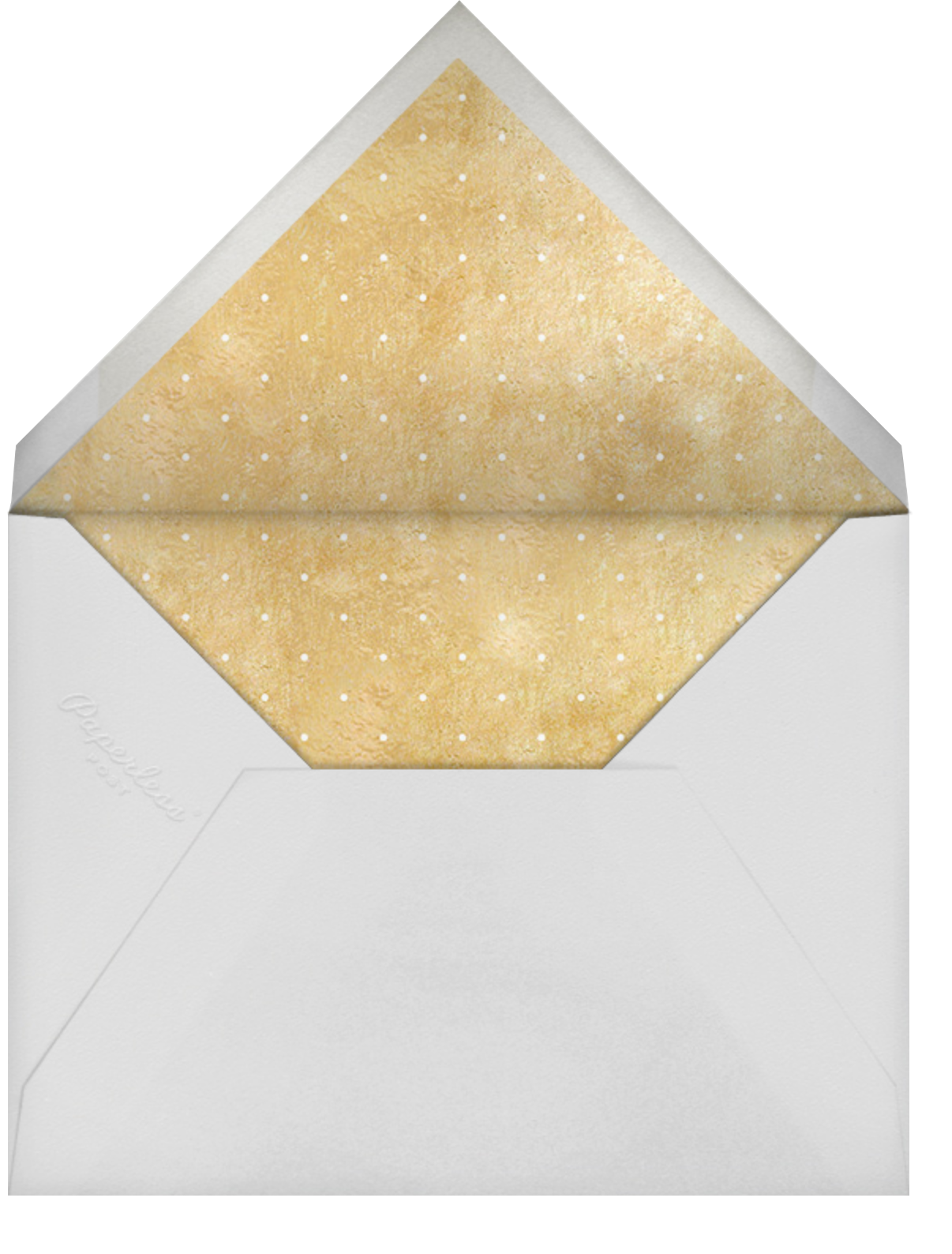Winter Wreath (Tall Save the Date) - White/Gold - Paperless Post - Photo  - envelope back